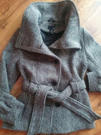 Krótki płaszcz wełniany kurtka jodełka M 38 7625335702