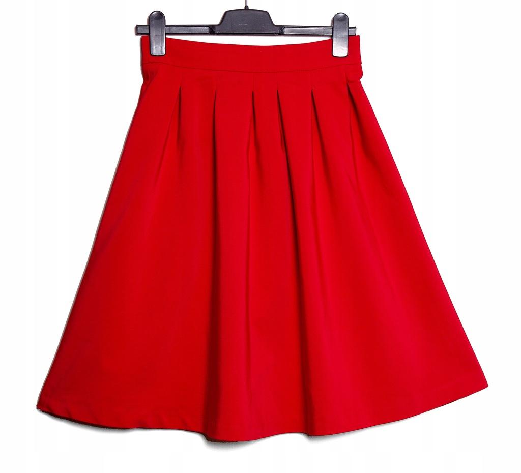 ORSAY czerwona rozkloszowana spodnica klasyczna