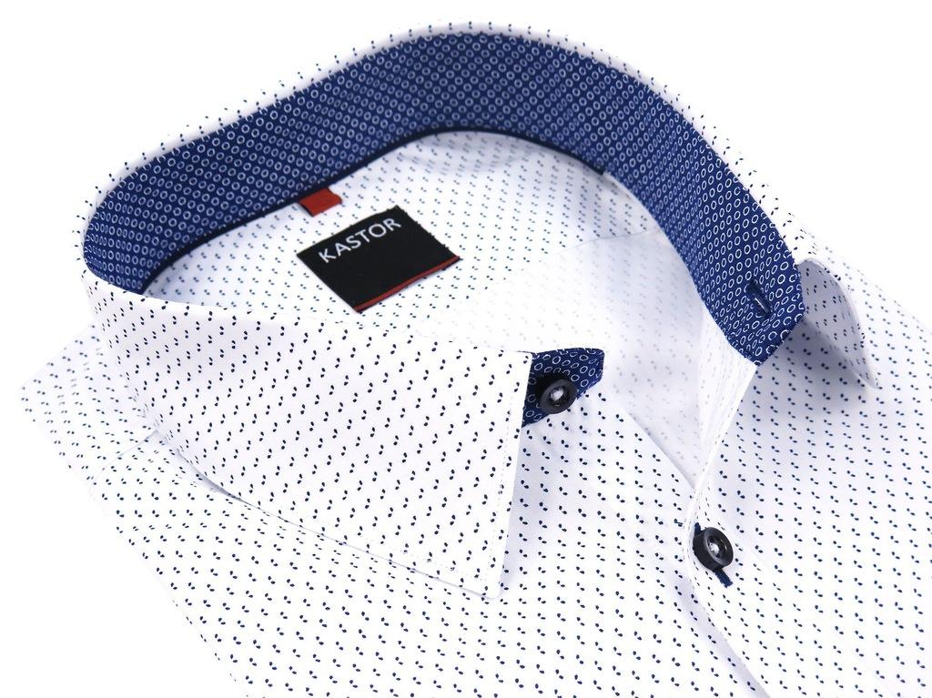 Biała koszula slim pod krawat Kastor