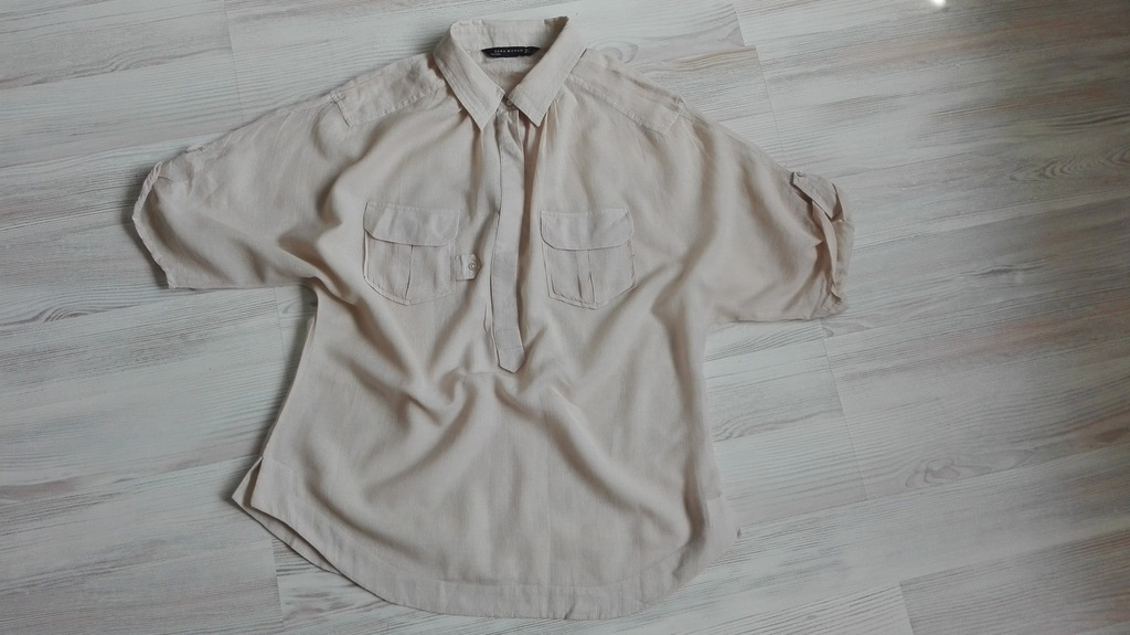 koszula męska zara bężowa oversize