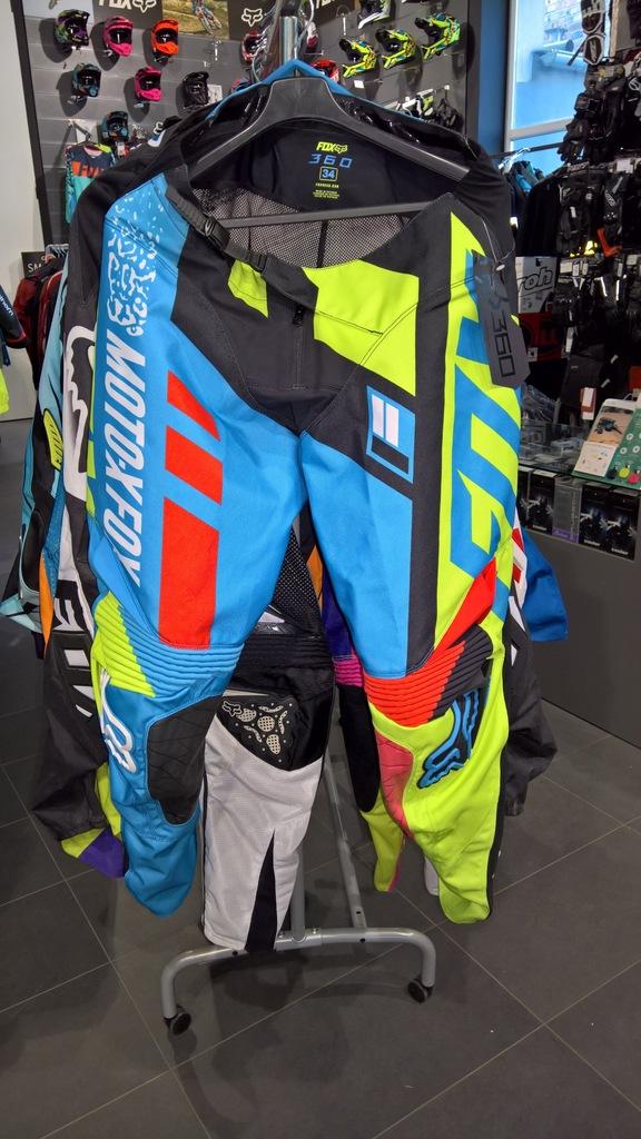 Spodnie Fox 360 Divizion Blue/Yellow roz. 32