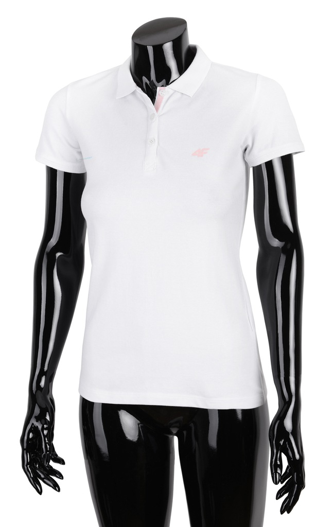 4f Koszulka polo damska H4L18 TSD017 biała r. M Białe