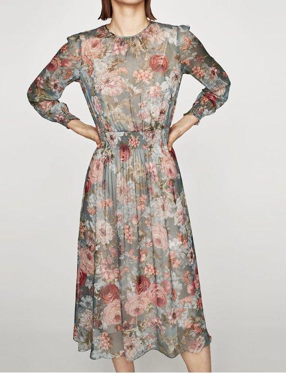 zara zwiewne sukienki