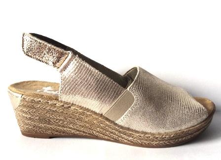 Rieker 62440 90 złote sandały espadryle 40 OBNIŻKA