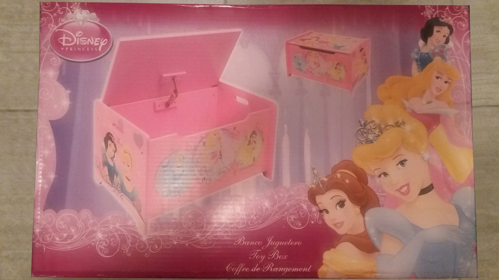 Pojemnik na zabawki skrzynia drewniana Księżniczki