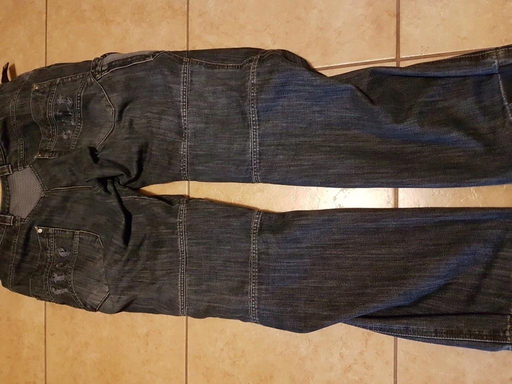 spodnie motocyklowe jeansy freestar xxl
