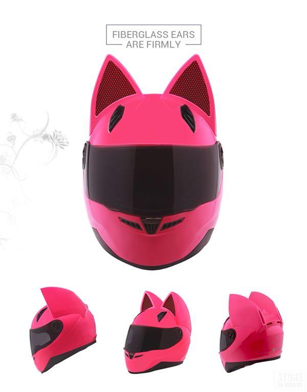 Kask Motocyklowy Cat Look Kot Kobieta Uszy Damski 7353088245 Oficjalne Archiwum Allegro