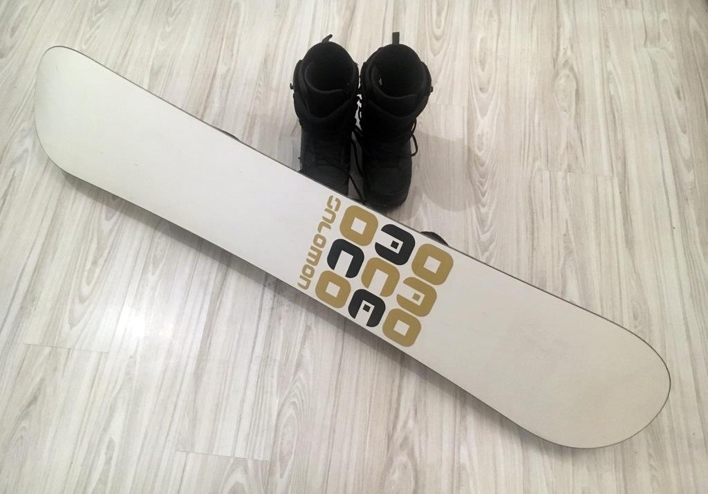 Salomon Ace Snowboard + SUPER Zapięcia FLOW + Buty