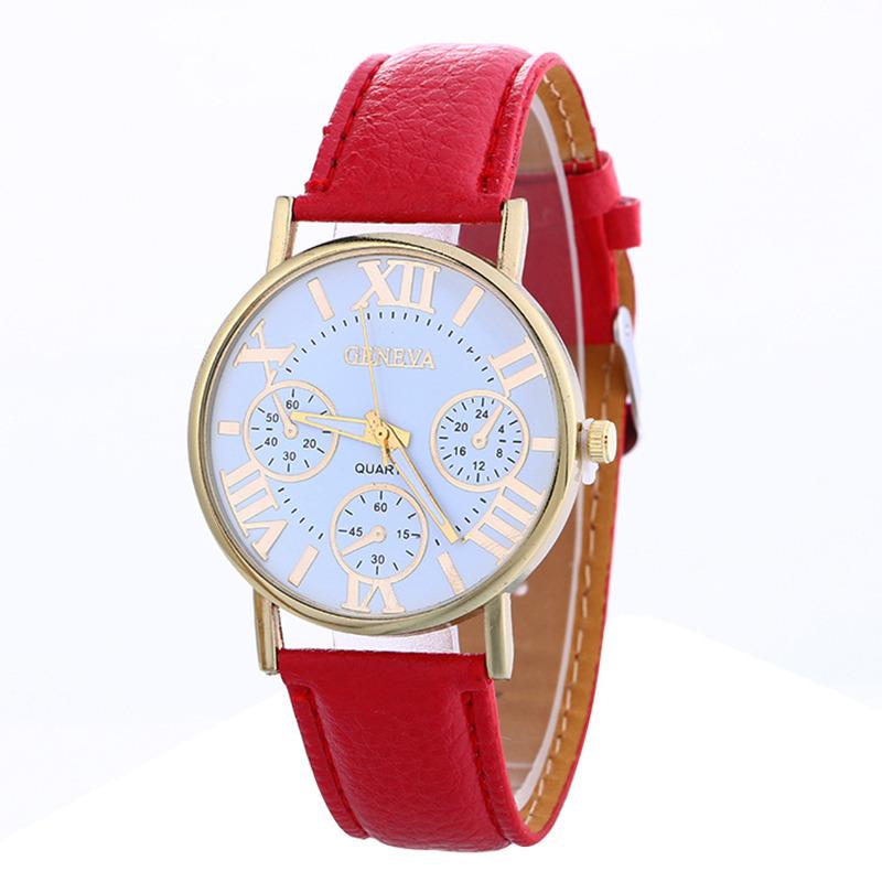 Zegarek Geneva damski męski czerwony