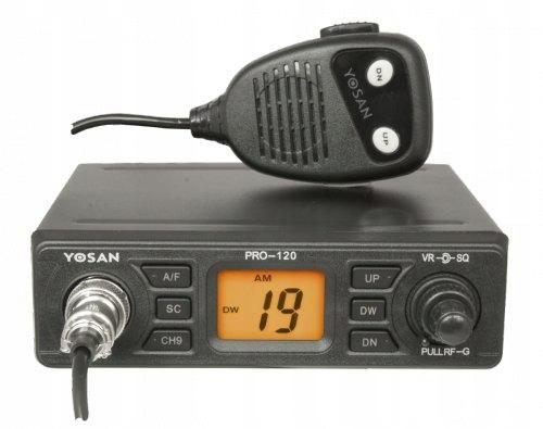 CB RADIO YOSAN PRO-120 + Wtyk Zapalniczki