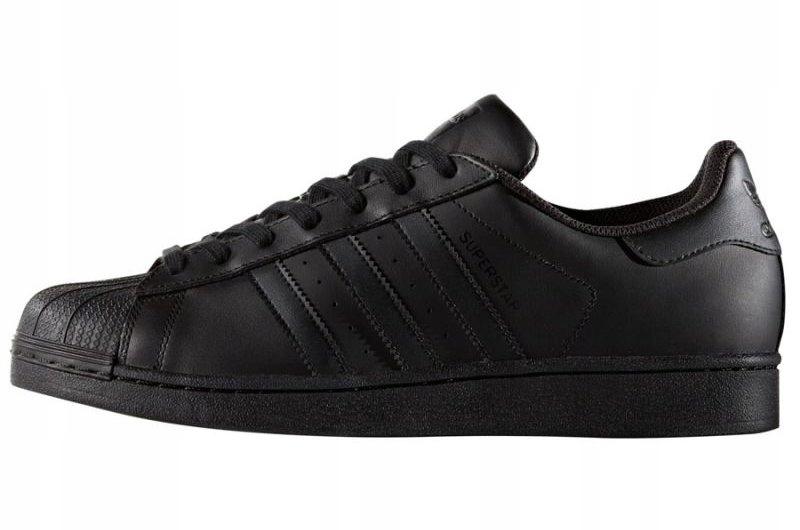 Czarne Skórzane Buty Adidas Originals r.46 23 7446734270