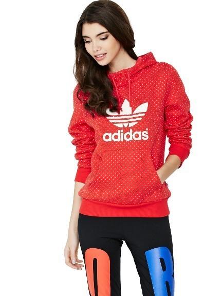 adidas bluza czerwona