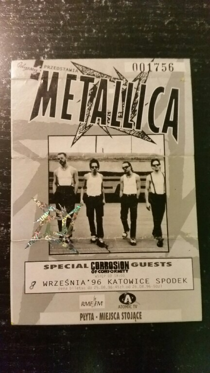 Metallica Bilet Spodek 1996 Oryg 7238137616 Oficjalne Archiwum Allegro