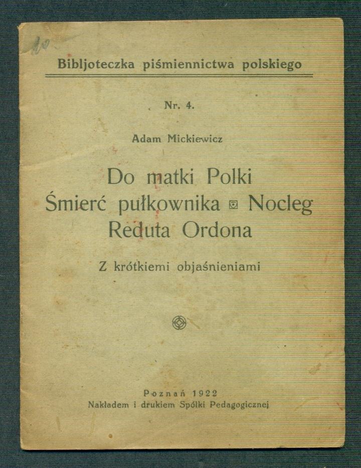 B Wiersze Patriotyczne A Mickiewicz 7609683194