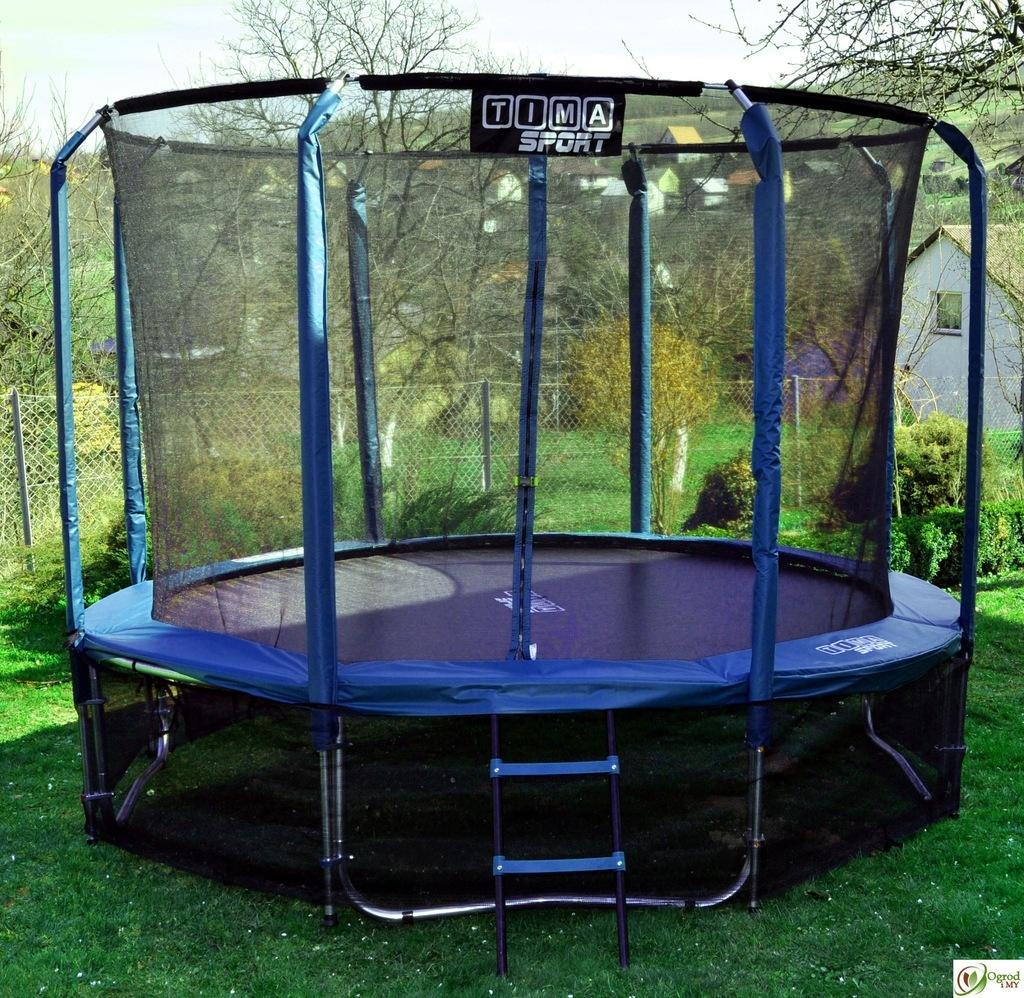 trampolina ogrodowa 312 cm profesjonal green  7380313420