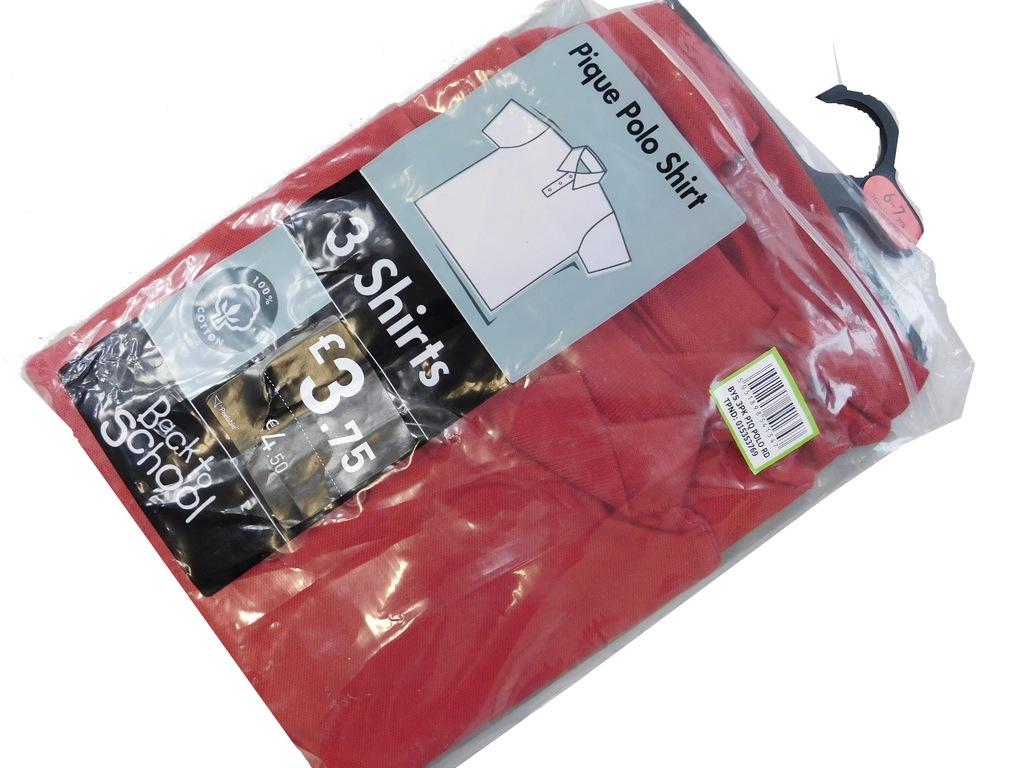 3003m13 TU czerwona KOSZULKA POLO 2- pack 122 cm