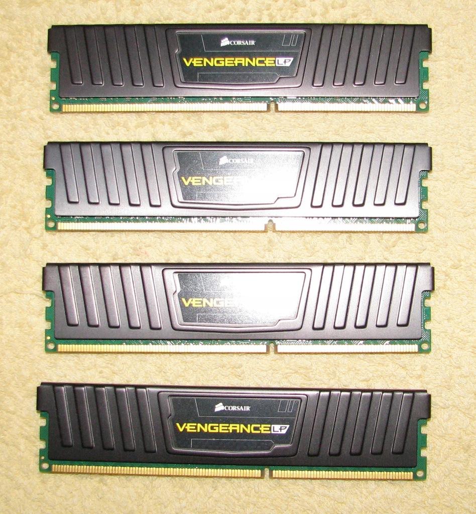 Corsair Vengeance Low Prof 16GB 4x4GB DDR3 1600MHz