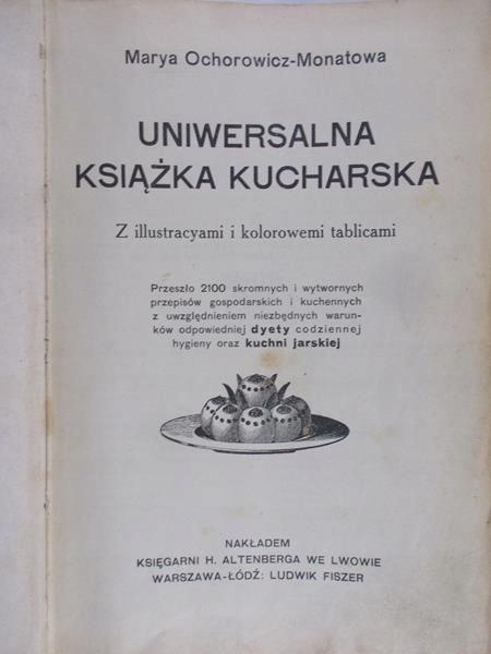 Uniwersalna Ksiazka Kucharska 1910r 7404873331 Oficjalne Archiwum Allegro