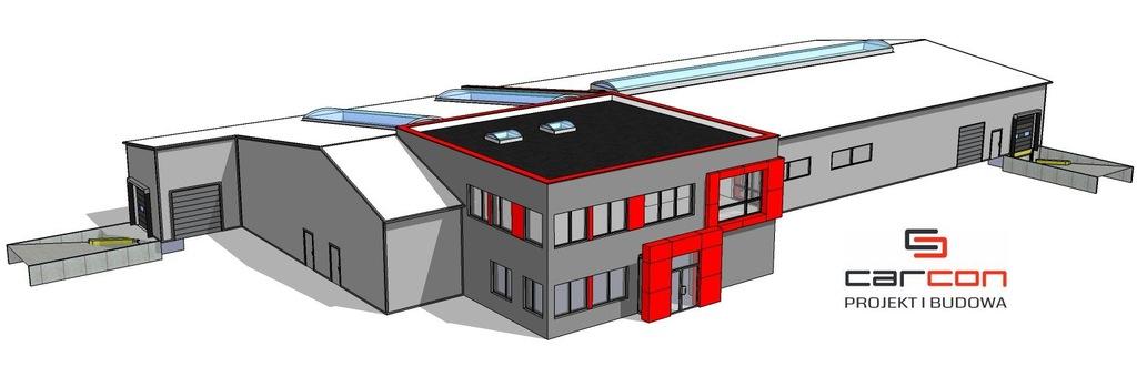 Projekt i budowa Hale produkcyjne z biurowcem