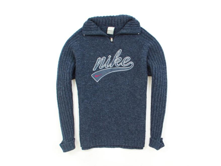 *F Nike Sweter Męski Wełniany Zip-Up Ciepły roz M