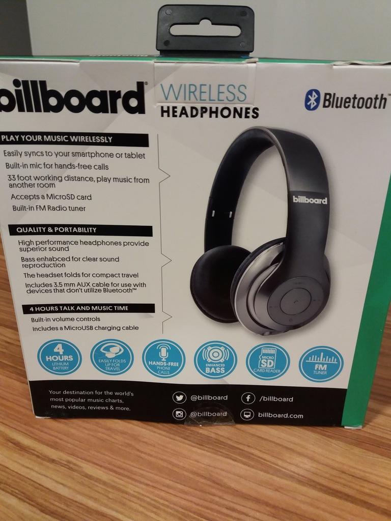 Słuchawki bezprzewodowe Billboard Bluetooth USA