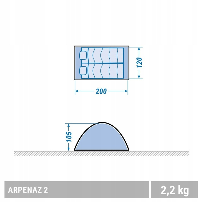 NAMIOT KEMPINGOWY ARPENAZ | 2 OS. QUECHUA 7601214813
