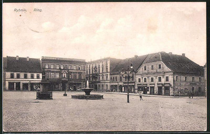 RYBNIK Rynek 1910