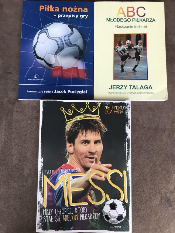 Messi piłka nożna zestaw książek