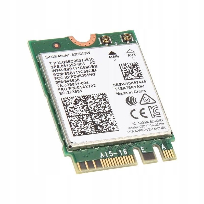 Intel Dual Band Wireless-AC 8265 + BT, M.2 Typ 223