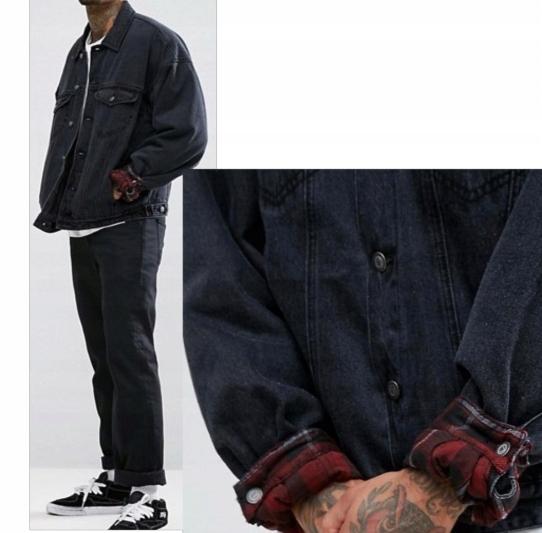A401 katana kurtka jeansowa czarna podszewka M