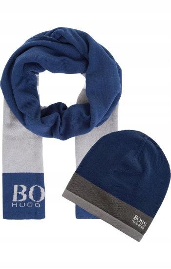 Hugo Boss Czapa Szal Gift Set Athleisure Prezent