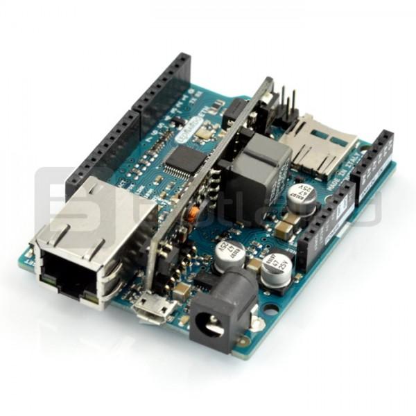 Arduino Leonardo Ethernet + PoE moduł oryginał
