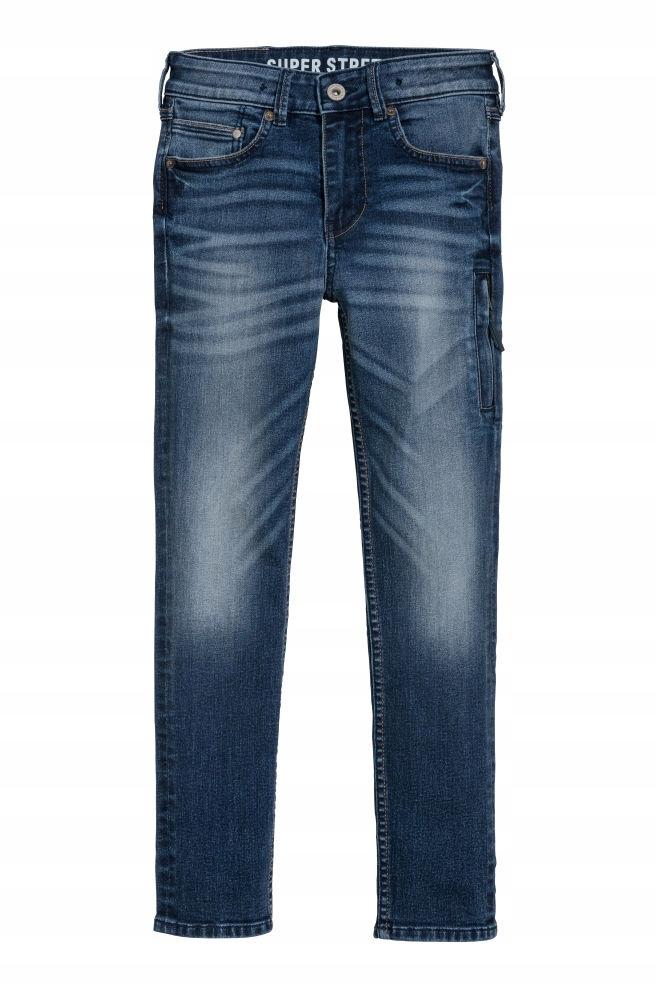 H&M dżinsy jeansy Super Stretch 170cm NOWE