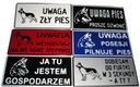 TABLICZKA, OSTRZEGAWCZA, INFORMACYJNA, PIES 29x14