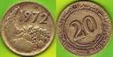 Algieria  20  Centimes  1972 r.