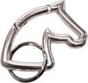 Breloczek-karabińczyk głowa konia srebrna