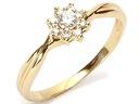 Złoty 585 pierścionek ZARĘCZYNOWY z BRYLANT.0,23ct