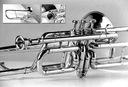 3-wentyl Bb Puzon tenorowy dla Trebacze zwrotnicy