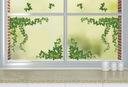 Statische Aufkleber auf das Fenster Liste Ivy Glas