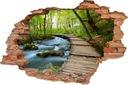 Naklejki na ścianę piękny WIDOK 3D dziura 160x110