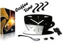 Kuchenny zegar ścienny FILIŻANKA 12 SUPER KOLORÓW