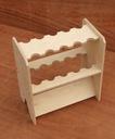 Drewniany stojak na wędki (surowy, 10 wędek)