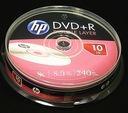 HP płyty DVD+R DL 8,5GB x8 Dwuwarstwowe Cake 10