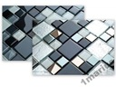 Mozaika szklana mix srebrny i szary wysoki połysk