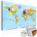 Tablica korkowa 90x60 mapa świata obraz na korku