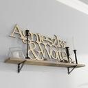 Drewniane Imiona napisy na ścianę 3D Cięcie Laser Kolor dominujący wielokolorowy