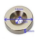 Неодимовый магнит 14x7/3 ,5x3 для геркона!