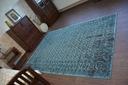 DYWAN VINTAGE 80x150 KWIATY turkus szary #B832 Waga (z opakowaniem) 1.5 kg