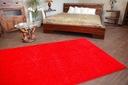 DYWAN SHAGGY 70x100 5cm czerwony miękki jednolity Kształt Prostokąt
