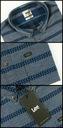 LEE Koszula Męska Regular Fit Granatowa r. M Kolor niebieski szary, srebrny